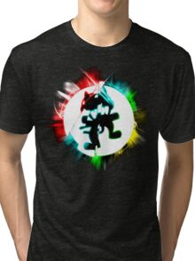Most Powerful EDM design. Tri-blend T-Shirt
