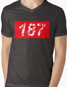 187 Bullet Holes Supreme | FreshThreadShop.com Mens V-Neck T-Shirt