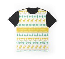 Northern Michigan University Christmas Sweater Design Graphic T-Shirt
