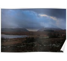 Lough Mourne and Barnes Gap in Winter Poster