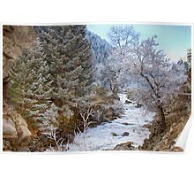 Boulder Creek Winter Wonderland Poster