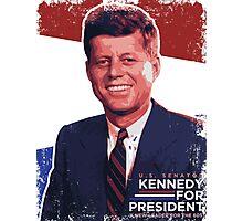John F. Kennedy Pro-Election Propaganda Photographic Print