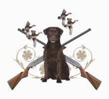 Chocolate Lab Gun dog by IowaArtist