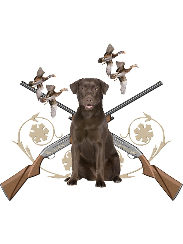 """Chocolate Lab Gun dog"" Stickers by IowaArtist 