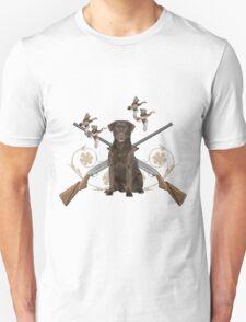 Chocolate Lab Gun dog Unisex T-Shirt