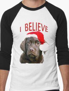 Chocolate Lab Believe Men's Baseball ¾ T-Shirt