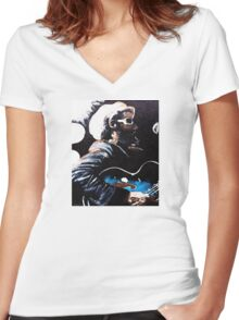 """""""H R"""" Women's Fitted V-Neck T-Shirt"""