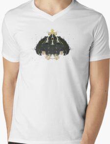 Alien Horror Movie Inkblot Mens V-Neck T-Shirt