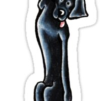 Clingy Black Lab Sticker