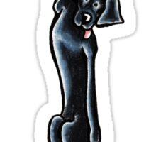 Clingy Black Lab Sticker