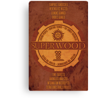 SuperWood Recruiting Poster Canvas Print