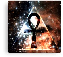 Hipster Space Ankh Canvas Print