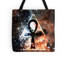 Hipster Space Ankh Tote Bag
