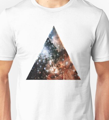 hipster space cat Unisex T-Shirt