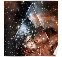 hipster space cat Poster
