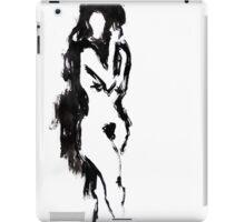 Black brush nude iPad Case/Skin