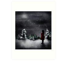 Christmas scene 2013 Art Print