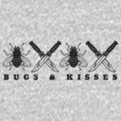 Bugs & Kisses (Prints Black) by DarDuncan