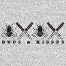 Bugs & Kisses (Prints Black) by DarDuncan