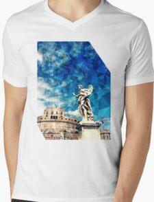 ROMA Mens V-Neck T-Shirt