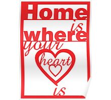 Home is where your heart is. Poster