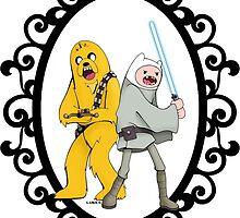 Jedi Finn & Jake the Wookie by createASAP