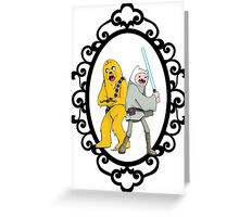 Jedi Finn & Jake the Wookie Greeting Card