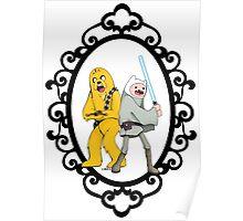 Jedi Finn & Jake the Wookie Poster