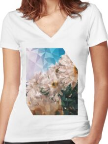 daisies Women's Fitted V-Neck T-Shirt