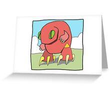 Red Geckobot Greeting Card