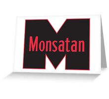 Monsatan (Red) Greeting Card