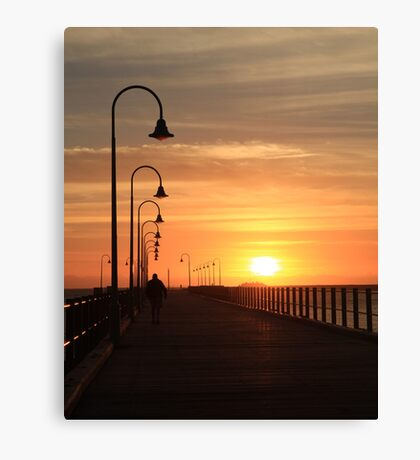 Jetty sunrise Canvas Print