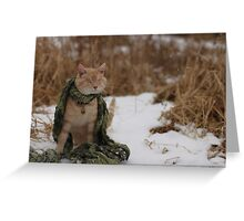 Gumbo Sitting in Snow Greeting Card