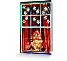 surreal Christmas lights Greeting Card