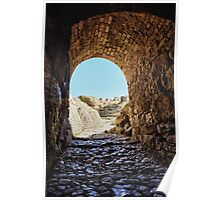 Acrocorinth medieval fortification fort castle Greece color travel - Emergere nel Sole Poster
