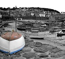 Mousehole in grey by Jenny Wood