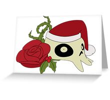 Skull and Rose Christmas Greeting Card