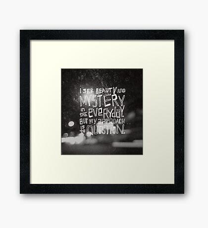 Artist Statement Framed Print