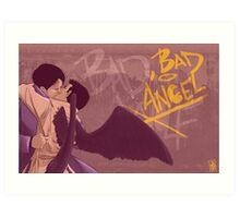 Bad, Bad Angel (Black Wings Version) Art Print