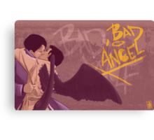 Bad, Bad Angel (Black Wings Version) Canvas Print