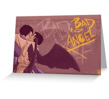 Bad, Bad Angel (Black Wings Version) Greeting Card