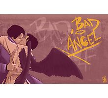 Bad, Bad Angel (Black Wings Version) Photographic Print