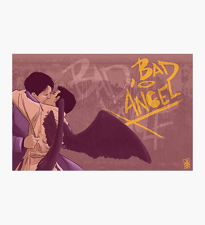 Bad, Bad Angel (Black Wings Version) Photographic Print