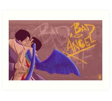 Bad, Bad Angel (Original Version) Art Print