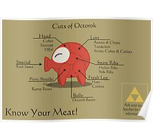 Know Your Meat! Octorok Meat Chart Print Poster
