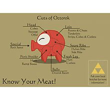Know Your Meat! Octorok Meat Chart Print Photographic Print
