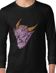 Creepy Demon Face Long Sleeve T-Shirt