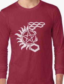 SuperWood Tee - White Logo Long Sleeve T-Shirt