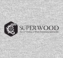 SuperWood 21st Century Tee - Black Logo by jazz4thecaptain