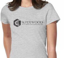 SuperWood 21st Century Tee - Black Logo Womens Fitted T-Shirt
